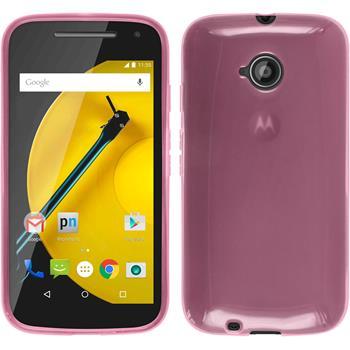 Silikonhülle für Motorola Moto E 2015 2. Generation transparent rosa