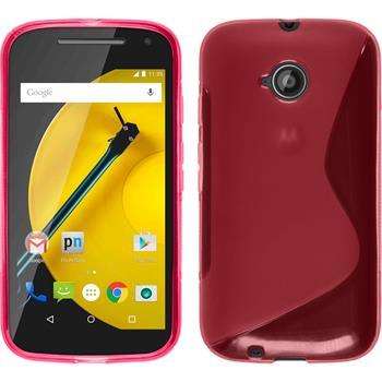 Silikonhülle für Motorola Moto E 2015 2. Generation S-Style pink