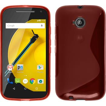 Silicone Case for Motorola Moto E 2015 2. Generation S-Style red