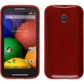 Silicone Case for Motorola Moto E brushed red