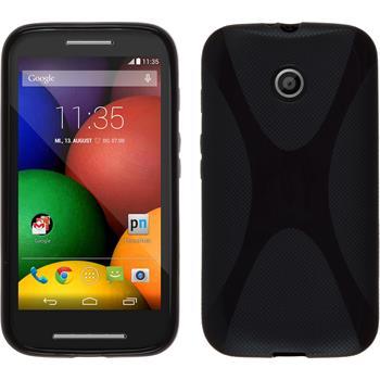Silikonhülle für Motorola Moto E X-Style schwarz