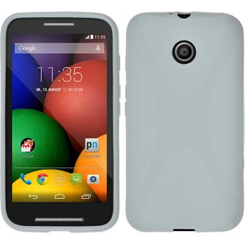 Silikonhülle für Motorola Moto E X-Style weiß