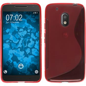 Silikon Hülle Moto G4 Play S-Style rot