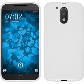 Silikonhülle für Motorola Moto G4 Plus S-Style weiß