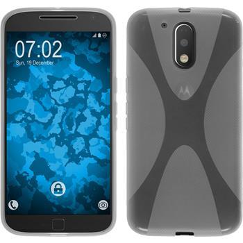 Silikon Hülle Moto G4 Plus X-Style clear + 2 Schutzfolien