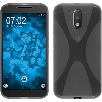 Silikonhülle für Motorola Moto G4 Plus X-Style grau