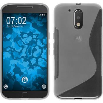 Silikonhülle für Motorola Moto G4 S-Style clear