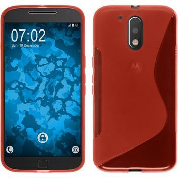 Silikonhülle für Motorola Moto G4 S-Style rot