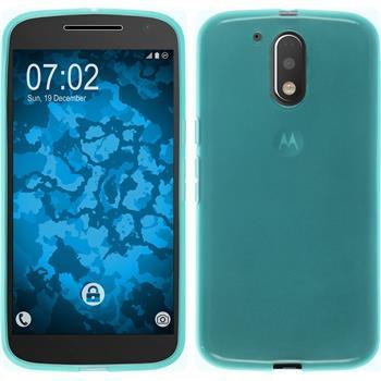 Silikonhülle für Motorola Moto G4 transparent türkis