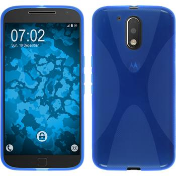 Silikon Hülle Moto G4 X-Style blau