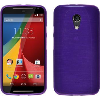 Silikonhülle für Motorola Moto G 2014 2. Generation brushed lila