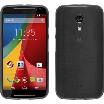 Silikonhülle für Motorola Moto G 2014 2. Generation brushed silber