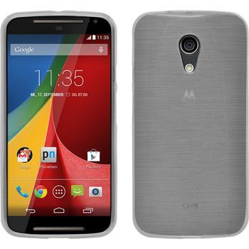 Silikonhülle für Motorola Moto G 2014 2. Generation brushed weiß