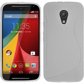 Silikonhülle für Motorola Moto G 2014 2. Generation S-Style weiß
