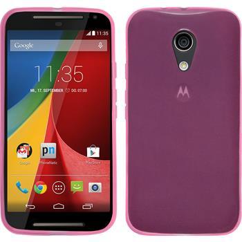 Silikonhülle für Motorola Moto G 2014 2. Generation transparent rosa
