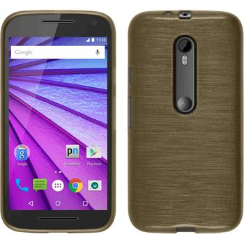 Silikon Hülle Moto G 2015 3. Generation brushed gold