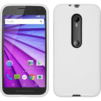 Silikonhülle für Motorola Moto G 2015 3. Generation S-Style weiß