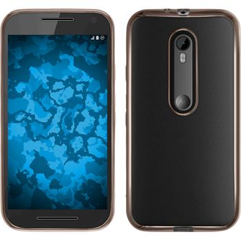 Silikon Hülle Moto G 2015 3. Generation Slim Fit gold