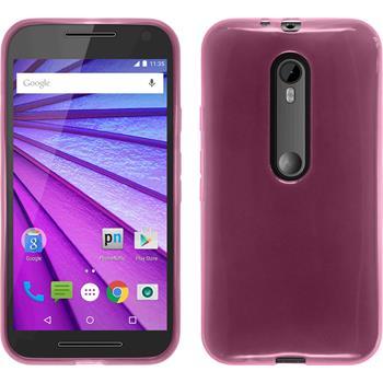 Silikonhülle für Motorola Moto G 2015 3. Generation transparent rosa
