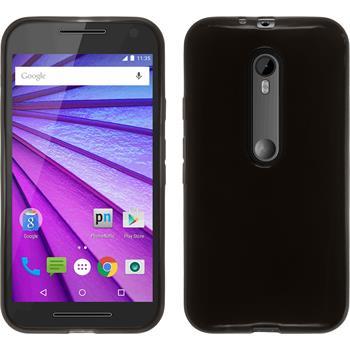 Silikonhülle für Motorola Moto G 2015 3. Generation transparent schwarz