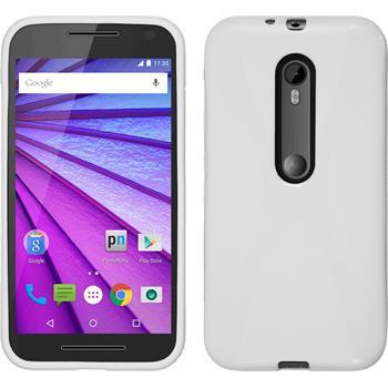 Silikonhülle für Motorola Moto G 2015 3. Generation X-Style weiß