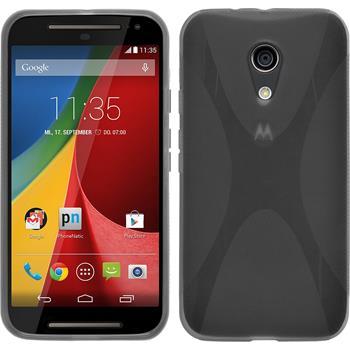 Silikonhülle für Motorola Moto G 2014 2. Generation X-Style grau