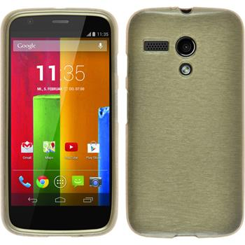 Silikon Hülle Moto G brushed gold