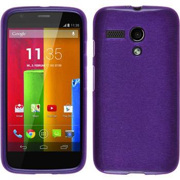 Silikonhülle für Motorola Moto G brushed lila
