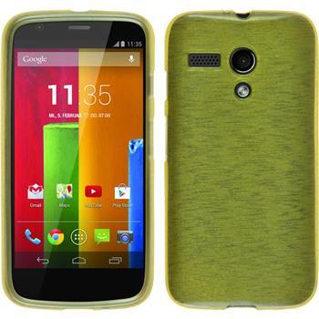 Silicone Case for Motorola Moto G brushed pastel green