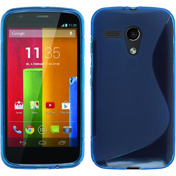 Silicone Case for Motorola Moto G S-Style blue