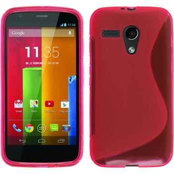 Silicone Case for Motorola Moto G S-Style hot pink