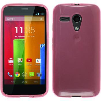 Silikonhülle für Motorola Moto G transparent rosa