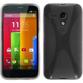 Silikonhülle für Motorola Moto G X-Style grau