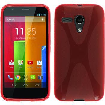 Silikonhülle für Motorola Moto G X-Style rot