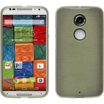 Silikonhülle für Motorola Moto X 2014 2. Gen. brushed gold