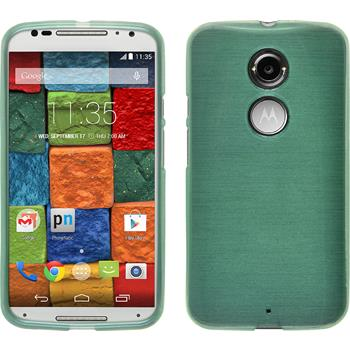 Silikonhülle für Motorola Moto X 2014 2. Gen. brushed grün