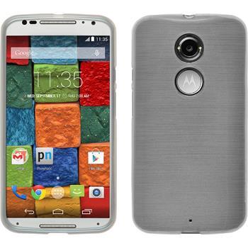 Silikonhülle für Motorola Moto X 2014 2. Gen. brushed weiß