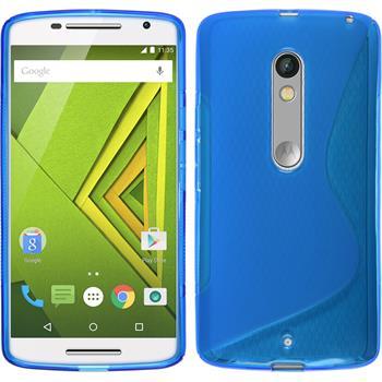 Silikon Hülle Moto X Play S-Style blau