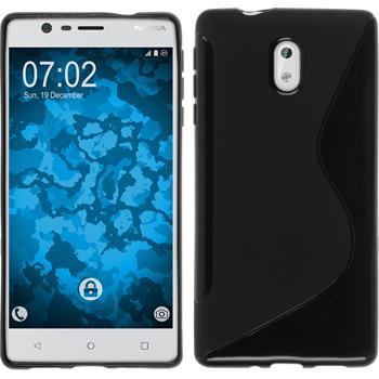 Silikonhülle für Nokia 3 S-Style schwarz