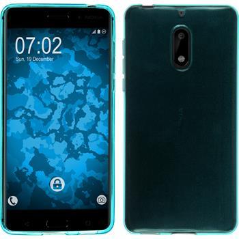 Silicone Case 6 transparent turquoise + protective foils
