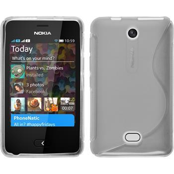 Silikonhülle für Nokia Asha 501 S-Style clear