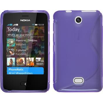 Silikonhülle für Nokia Asha 501 S-Style lila