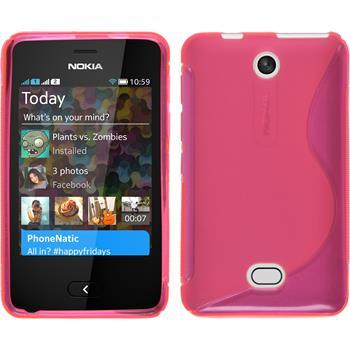 Silikon Hülle Asha 501 S-Style pink