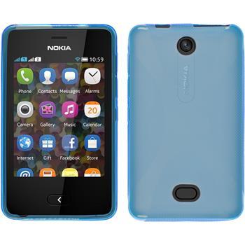Silikon Hülle Asha 501 X-Style blau