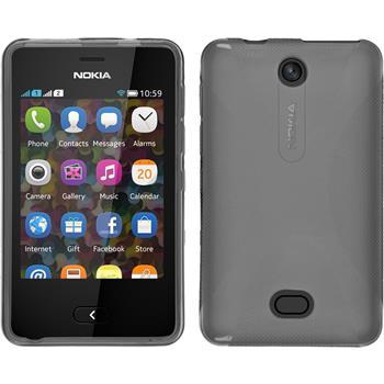 Silikonhülle für Nokia Asha 501 X-Style grau
