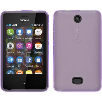 Silicone Case for Nokia Asha 501 X-Style purple