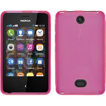 Silikon Hülle Asha 501 X-Style pink