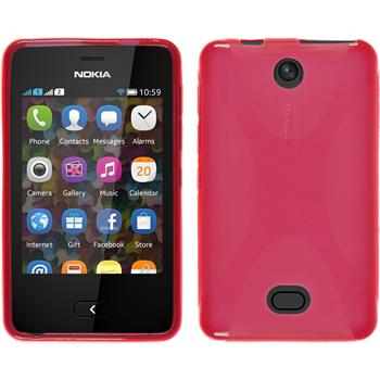 Silicone Case for Nokia Asha 501 X-Style red