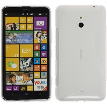 Silikon Hülle Nokia Lumia 1320 S-Style clear + 2 Schutzfolien