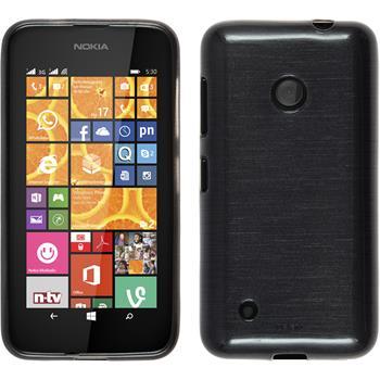 Silikon Hülle Lumia 530 brushed silber